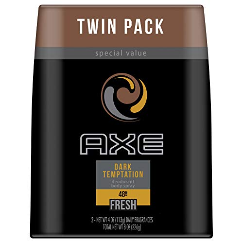AXE Body Spray Dark Tempation 8 oz, 2 Pack