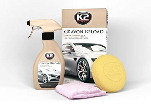 K2 Juego de productos para el cuidado del coche para revestimientos de cerámica y de cuarzo, máxima durabilidad, también adecuado para pinturas en plástico, goma y cristal