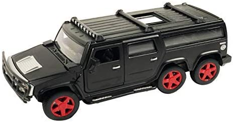 Nizomi™ Best Scale Hummr Pull Back Car Toy Metal Diecast Body Mini SUV Vehicle with Light and Sound,Best for Collecti...