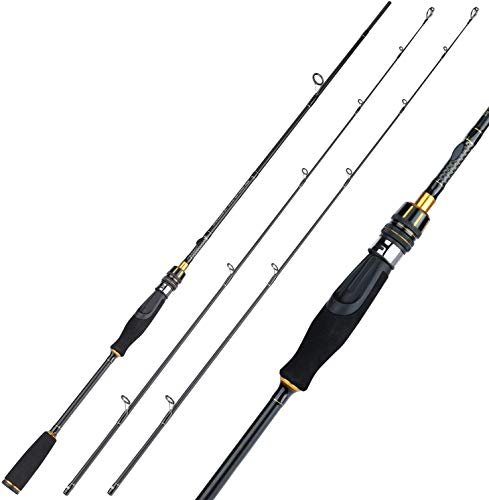 Sougayilang Angelrute, leichte 30-Ton Kohlefaser Spinnen Angelruten, Ultra-Sensitive Guss & Spinning Rods, Twin-Tips Forelle Rod-210