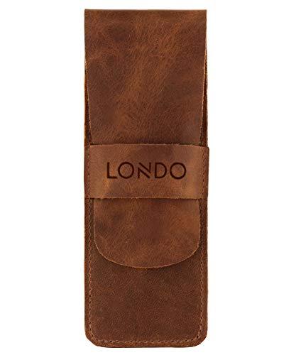 Londo Echtleder Federmäppchen - Bleistift Beutel (Braun), OTTO245