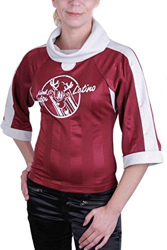 Diesel, Mujeres, Top, Camiseta Larga Cuello de Tortuga Guk Roja (Medium)
