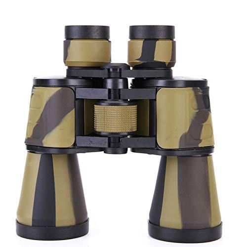 Tricolor 20X50 prismáticos compactos HD con Zoom asika y Prisma óptico Bak4 para Acampar