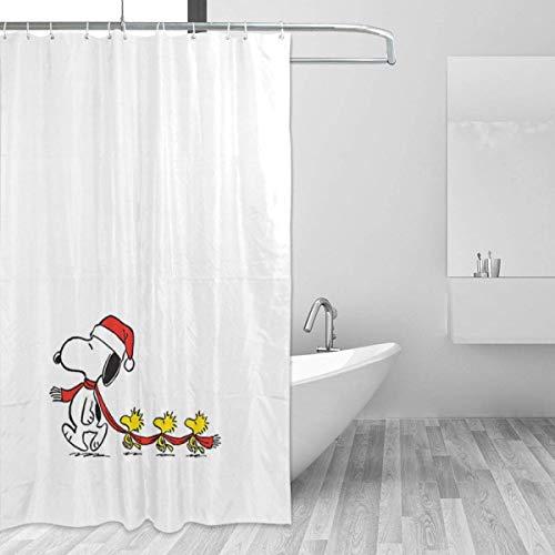 Badezimmer Duschvorhang Snoopy Weihnachten Home Decor Duschvorhänge mit Haken 60 'X 72'