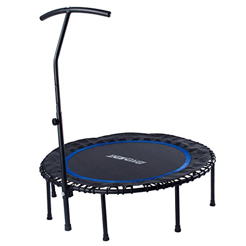 EFITMENT 45-in Fitness Trampoline Rebounder for Exercise with...