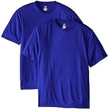 Hanes Men's 2 Pack Short Sleeve Cool DRI T-Shirt UPF 50+, Deep Royal, X-Large