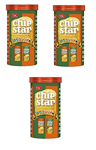 コンビニー限定 2021年6月 ヤマザキビスケット YBC チップスター chipstar POTATO CHIPS のりコンソメ味 NORICONSOMME スナック菓子 50gx3個 食べ試しセット