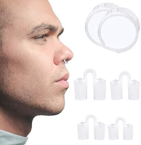AEU Nasendilatatoren 8X Nasenspreizer Anti-Schnarchmittel Schnarchstopper 1Er Pack Verschiedene Größen Dilator Hilft Gegen Schnarchen, Schlafapnoe Nasenstauung