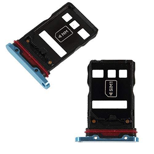 jbTec NM-Card/Dual SIM-Tray/Halter passend für Huawei P30 Pro - Slot Karte Schlitten Rahmen Holder Handy Card Ersatz, Farbe:Blau