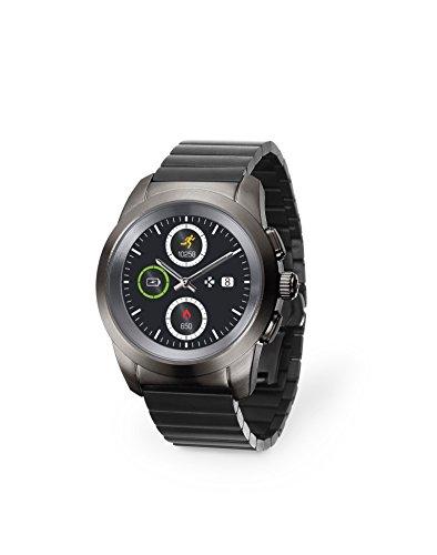 MyKronoz ZeTime Regular Elite Smartwatch Titan TFT 3,1 cm (1.22 Zoll) - Smartwatches (3,1 cm (1.22 Zoll), TFT, Touchscreen, 72 h, 90 g, Titan)
