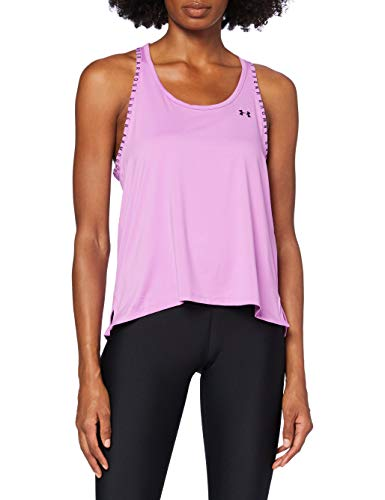 Under Armour UA Knockout Tank, Camiseta de Tirantes, Camiseta Deportiva para Mujer Mujer, Lila (Exotic Bloom/Black/Black(568)), XS