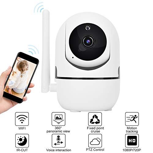 WiFi bewakingscamera 720P / 1080p HD baby monitor voor huisdieren, Smart IP camera met nachtzicht en bewegingsdetectie 1080P.