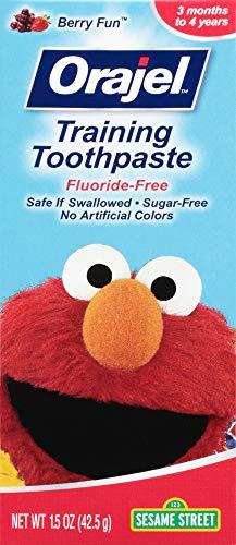Orajel Elmo Fluoride-Free Training Toothpaste, Berry Fun, 1.5oz