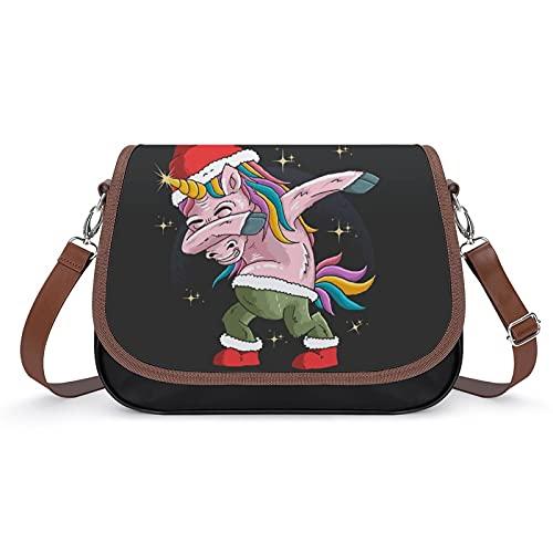 Bolsos De Mujer Unicornio Hip Hop Bolso Bandolera Grande Bolsas De Hombro Impresión De Cuero Bolso De Mano Para Niña 31x22x11cm