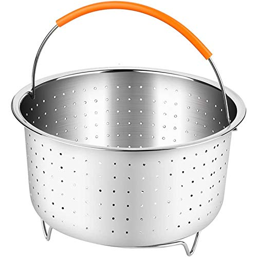 ZPFDM 8L Triangle Independent Steam Basket, Stainless Steel Steamer Insert with Silicone Covered Handle, Great for Steaming Vegetables Fruits Eggs