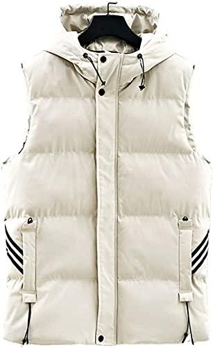 Chaleco con capucha de los hombres de invierno grueso para hombre chaqueta sin mangas masculino algodón acolchado Chaquetas abrigos Chalecos con capucha Chalecos