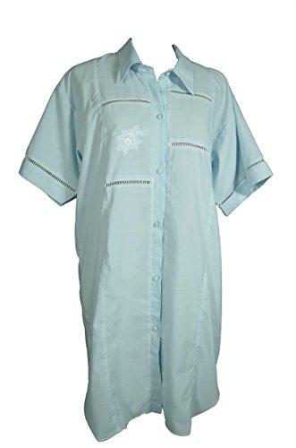 Batist Nachthemd 2002D Gr36/38 türkis zum Durchknöpfen patientenhemden nachthemd krankenhaus krankenhemd pflegehemd pflegehemd pflegehemd kurzarm nachtwäsche made in germany krankenhemd für erwachsene