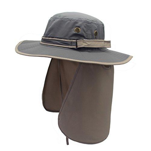 (コネクタイル)Connectyleユニセックス速乾UVカットハットアウトドア日よけ帽子サファリハット農作業用帽子フィッシング帽子グレーFreeSize