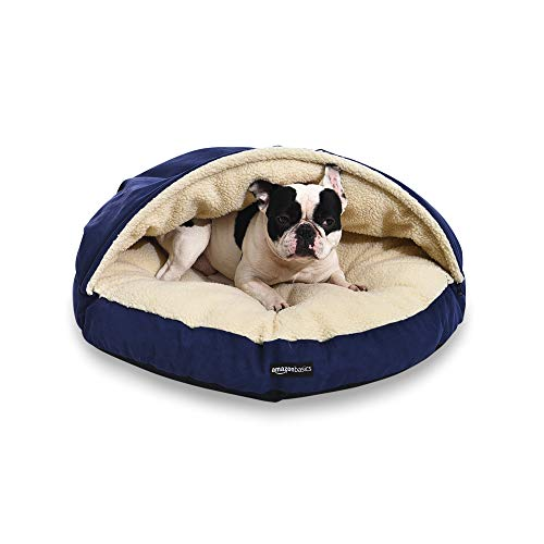 AmazonBasics Pet Cave Bed, Medium, Blue