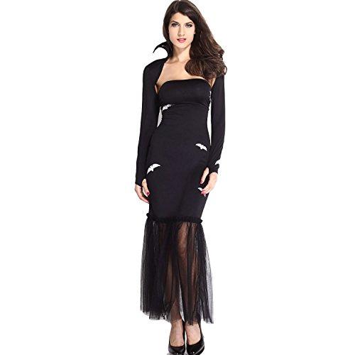 Toocool - Disfraz para carnaval de mujer Reina Vampira, vestido de disfraz DL-1604
