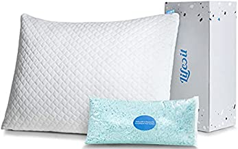 Lifewit Premium Shredded Memory Foam Pillow - Adjustable Loft Hypoallergenic Cooling Pillow for Side, Back, Stomach Sleepers, Washable Cover - CertiPUR-US Certified -Queen