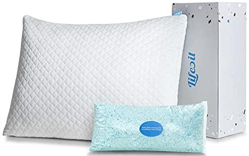Lifewit Premium Shredded Memory Foam Pillow - Adjustable Loft...