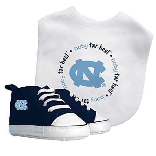 Baby Fanatic Ncaa Legacy Infant Gift Set, North Carolina Tar Heels, 2Piece Set (Bib & PRE-Walkers)