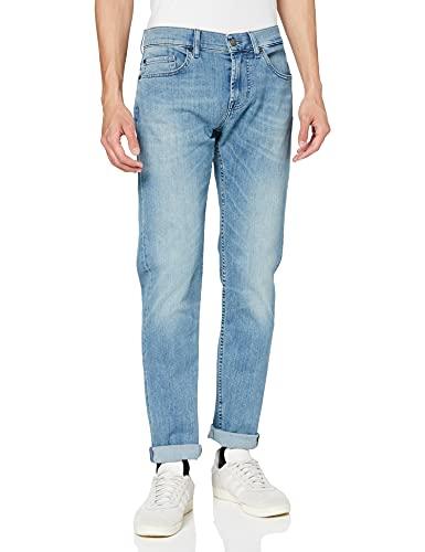 7 For All Mankind Kayden Jeans Slim, Blu (Luxe Performance Light Blue 0qt), W31/L33 (Taglia Produttore: 31) Uomo