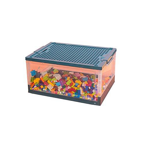 YUMEIGE Caja de almacenamiento de cosméticos Caja de almacenamiento de juguetes para niños Canasta de plástico LEGO bloques Ordenar y clasificar caja de almacenamiento transparente, apilable,