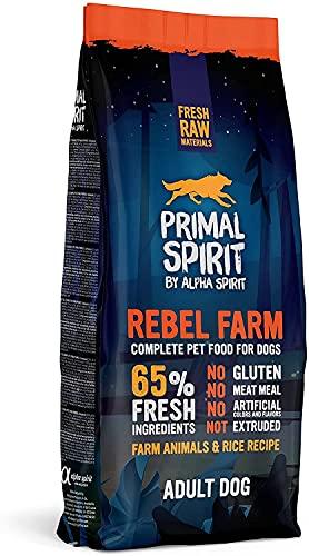 Primal Spirit8436586310837 65% Rebel Fram Adulto Perros Comida 12 kg ⭐