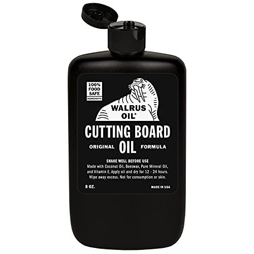 WALRUS OIL - Cutting Board Oil and Wood Butcher Block Oil, 8 oz Bottle, FDA Food-Safe