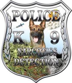Police Shield K9 Unit Narcotics Detection - 6' h - REFLECTIVE
