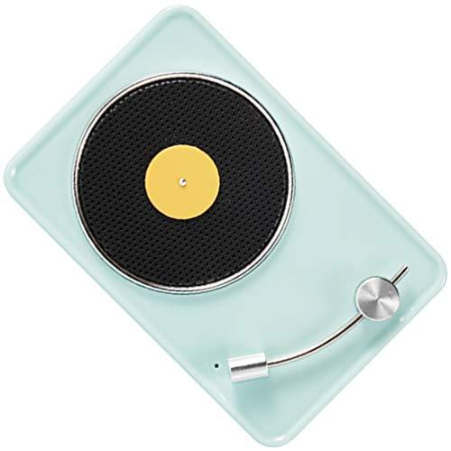 Generic Pequeño altavoz retro portátil vintage reproductor de grabación con USB recargable 5. 0 conexión inalámbrica altavoz para teléfono hogar oficina verde