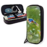 XCNGG Estuche para lápices neceser Stationery Stylish Simple Pencil Bag and Durable Zipper Pencil Case Pouch Makeup Bag for Girls Kids - Kingfisher Birds Flight Steep Dive