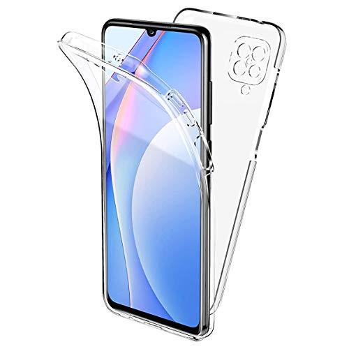 Ingen Funda 360 Compatible con Samsung Galaxia A12 Carcasa Doble Cara 360 de Silicona, Transparente Ultrafino Silicona TPU Frente y PC Back Carcasa Funda de Doble Protección