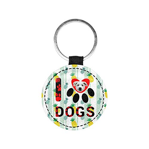 Artsadd Custom Face&Name Pineapple Pet ID Tag Personalized Number Double Sides Dog Tag and Cat Tag