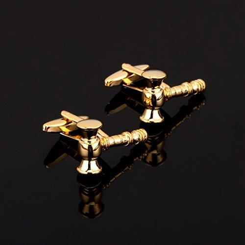 jiao Fashion Judge klatschte in den Hammer Manschettenknopf für Herrenhemd Markenanzug Manschettenknöpfe Manschettenknöpfe Schmuck
