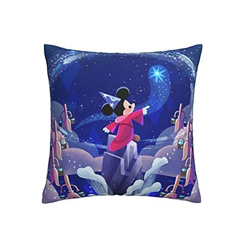 Almohada de Mickey Mouse Minnie con cremallera oculta, apertura y cierre, súper suave y cómoda, con decoración de doble cara, 45,7 x 45,7 cm