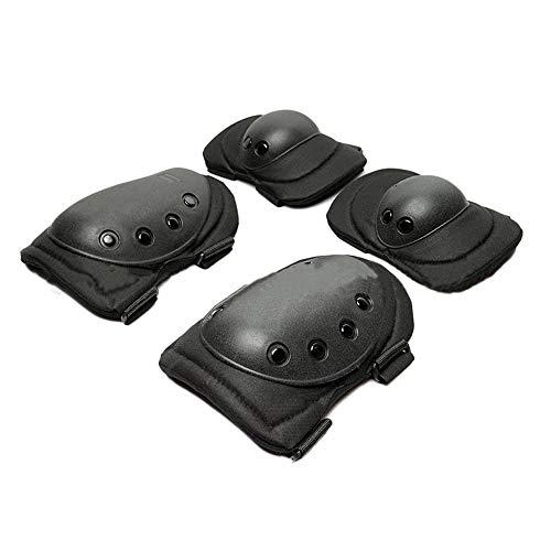 Militär-Knieschoner und Ellenbogenschoner für Airsoft-unterstützt Bau- und Fußboden-Gel-Sitzkissen, robust und zu OD, Grün, EVA-Schaum, verstellbar, Klettverschluss, Schwarz, Braun, schwarz