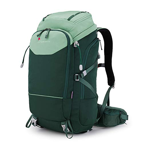 MOUNTAINTOP 50L Internal Frame Backpack Hiking for Men Women with Rain Cover