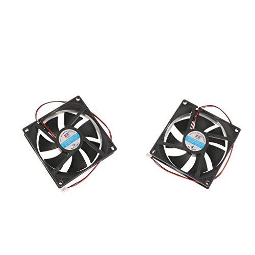 prasku 2X 92mm Cojinete de Manguito PC Ordenador Silen Caja de Enfriamiento Ventilador 12V 0.15A