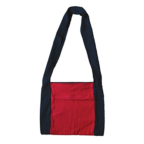 Babylonia baby carriers - Babylonia hand bag - Currant red & black