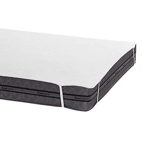 Bedecor Matratzenschoner Wasserdicht Wasserundurchlässige Matratzenauflage Baumwolle 150x200 cm