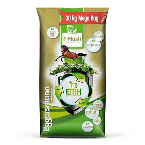 Eggersmann EMH F-Müsli – Eiweißreduziertes Pferdemüsli ohne Hafer – Vollwertiges Alleinkraftfutter – 30 kg Sack