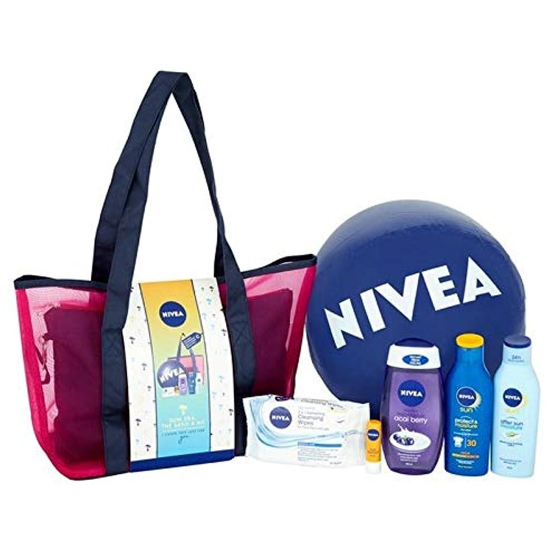 聴覚障害者どうやって胚[Nivea ] ニベアの太陽、海、砂&私のギフトパック - NIVEA Sun, Sea, The Sand & Me Gift Pack [並行輸入品]