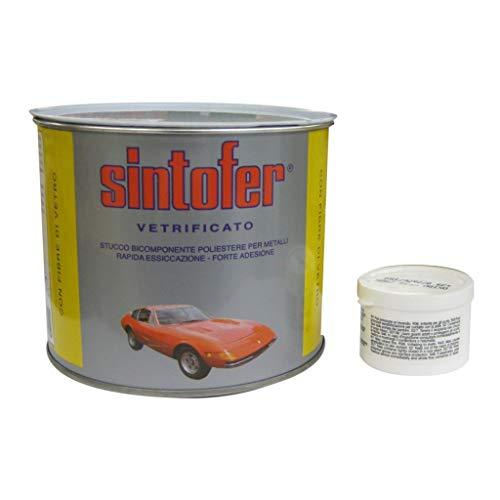 'Sintofer' vetrificato Masilla para carrocería y nautica bicomponente poliéster, con fibra de...