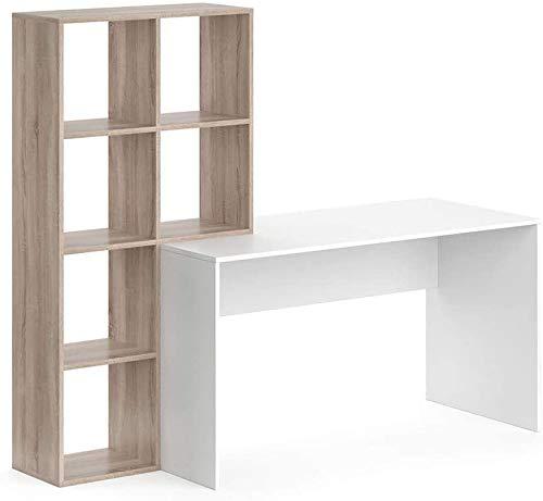 Escritorio de oficina, escritorio de la computadora, separadores de ambiente de trabajo mesa con aviones de papel,Beige