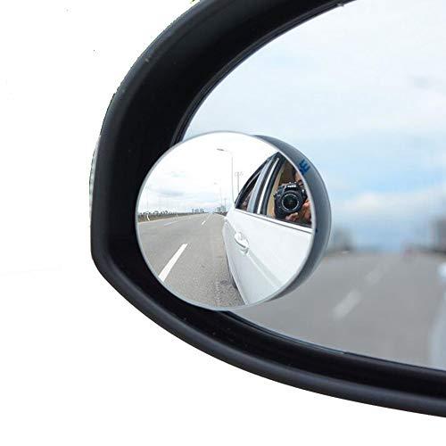 FDSEF Auto Kleiner runder Spiegel 360-Grad-Umkehrung ohne Randspiegel Rückspiegel Weitwinkelobjektiv Toter Winkel Spiegell HD