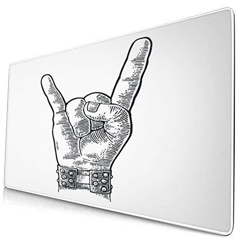 HASENCIV Alfombrilla de Ratón,Pulsera con Pinchos de Metal con Signo de Mano de Rock and Roll Que le da al Diablo Gesto de Cuernos,Mouse Pad - Precisión y Velocidad