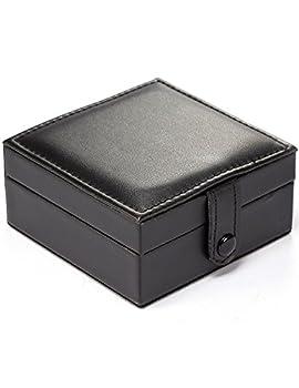 Treeweto Luxury PU Leather Pocket Watch Box Display Storage Case